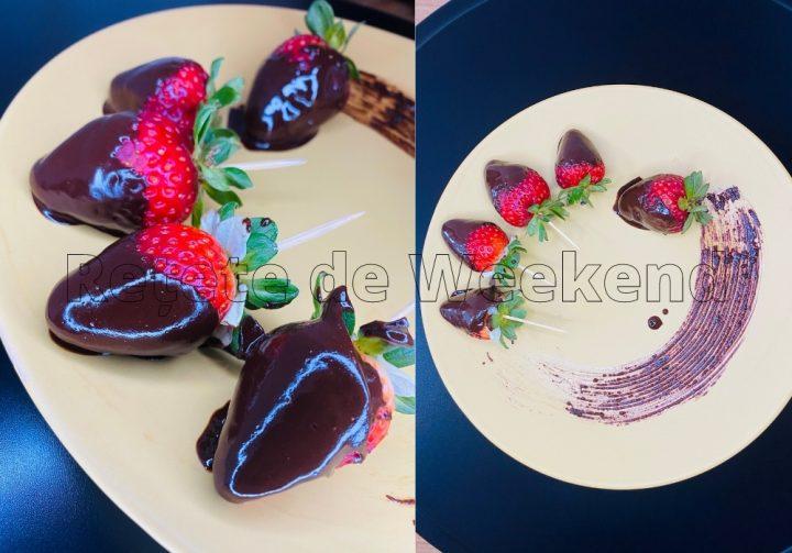 Capsuni invelite in ciocolata reteta