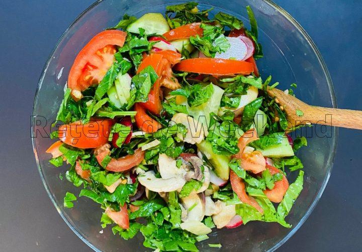 Salata Spanac Ciuperci Reteta